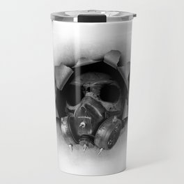 Gas Mask Skull Travel Mug
