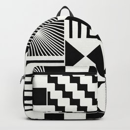 Mosaic Black And White Pattern Backpack