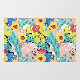 Tropical floral pattern Rug