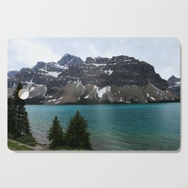 Bow Lake With Crowfoot Mountains Cutting Board