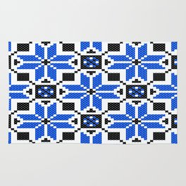 Folclor - Folk - Blue Ucraine  Rug