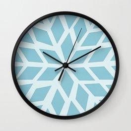 Light blue, diamond, mosaic pattern. Moroccan tile. Wall Clock