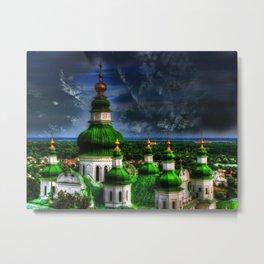 Domes of Trinity Cathedral, Chernigov, Ukraine Metal Print