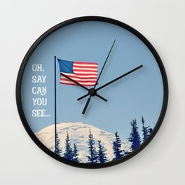 Oh Say Can You See Wall Clock