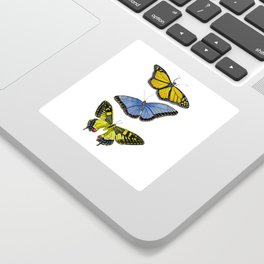 3 Butterflies Sticker