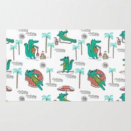 Alligator vacation tropical gator life palm beach socal florida gators Rug