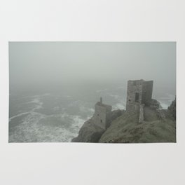 Botallack in the mist Rug