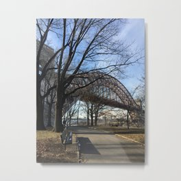 Hellgate Bridge Metal Print