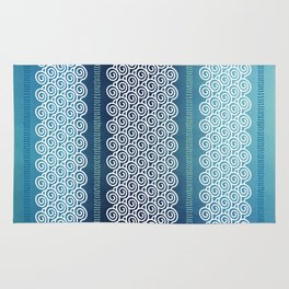 Abstract Ocean Waves Pattern Rug