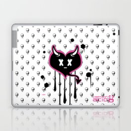 Evil Heart with Devil's Horns, Tail and Skulls Laptop & iPad Skin