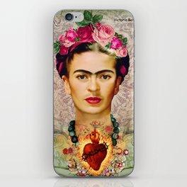 FRIDA KAHLO SACRED HEART iPhone Skin