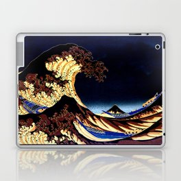 The GREAT Wave Midnight Blue Brown Laptop & iPad Skin