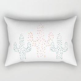 Watercolor Cactus Rectangular Pillow