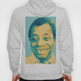 James Baldwin Portrait Teal Gold Blue Hoody