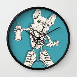 Frenchie RapStar Wall Clock