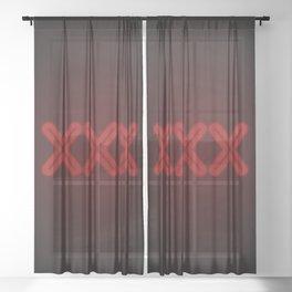 XXX Sheer Curtain