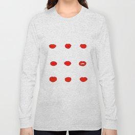 Red Lips Pattern Long Sleeve T-shirt
