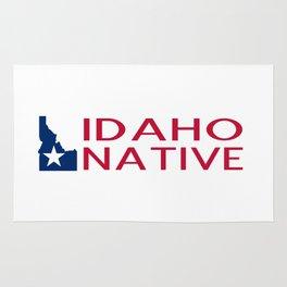 Idaho Native with Idaho Shape and Star Rug