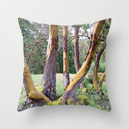 MAGIC MADRONA FOREST Throw Pillow