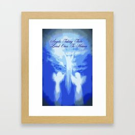 ANGELS TAKING THEIR LOVED ONES TO HEAVEN Framed Art Print