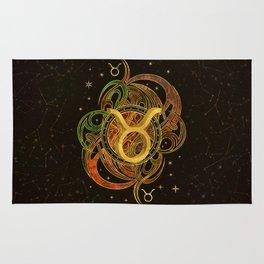 Taurus Zodiac Sign Earth element Rug