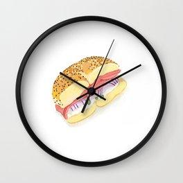 Everything Bagel Wall Clock