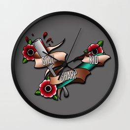 Stay Sharp Kid Wall Clock