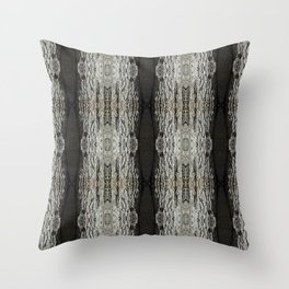 Oak Tree Bark Vertical Pattern by Debra Cortese Designs Throw Pillow