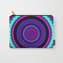 turquoise purple Mandala Carry-All Pouch