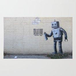 Banksy Robot (Coney Island, NYC) Rug