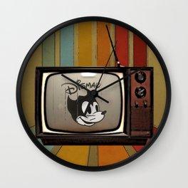 fallout Dismay cartoon on vintage tv Wall Clock