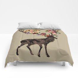 Spring Itself Deer Flower Floral Tshirt Floral Print Gift Comforters