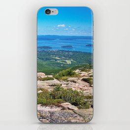 View of Bar Harbor, Maine from Cadillac Mountain (4) iPhone Skin
