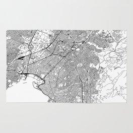 Athens White Map Rug