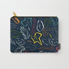 flora indigo Carry-All Pouch
