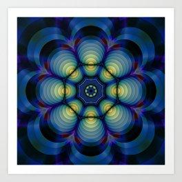 an other blue mandala Art Print
