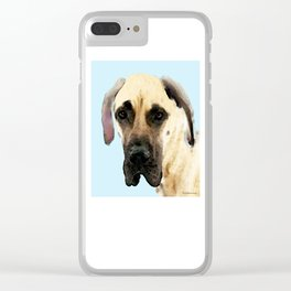 Great Dane Art - Dog Painting by Sharon Cummings Clear iPhone Case