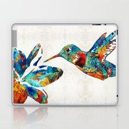 Colorful Hummingbird Art by Sharon Cummings Laptop & iPad Skin