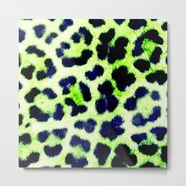 Glamorous Leopard Skin Metal Print