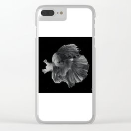 Fighting fish Clear iPhone Case