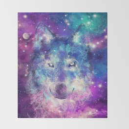 wolf 1 Throw Blanket