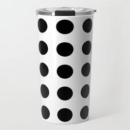 Black - White - Yellow Travel Mug