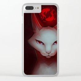 Vampire Cat Clear iPhone Case