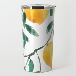 yellow lemon 2018 Travel Mug
