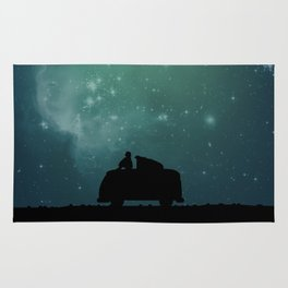 Looking Up at the Night Sky Rug