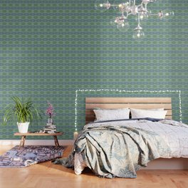 small zigzag on blue and green Wallpaper