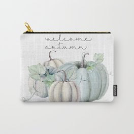 welcome autumn blue pumpkin Carry-All Pouch