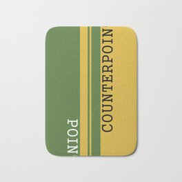 Weekend Update: Point Counterpoint Bath Mat