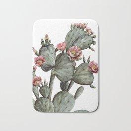 Prickly Pear Cactus Painting Bath Mat