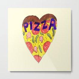 Pizza Heart Metal Print